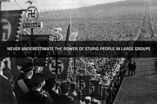 Nazis power of people stupid