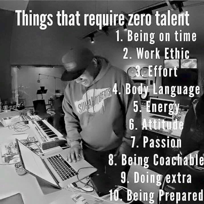 Virtues that require zero talent just effort