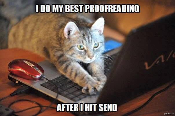 Best proofreading after hitting send