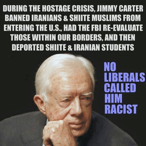 Carter banned Iranians in 1979