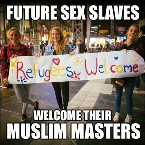 Future sex slaves welcome Muslim masters