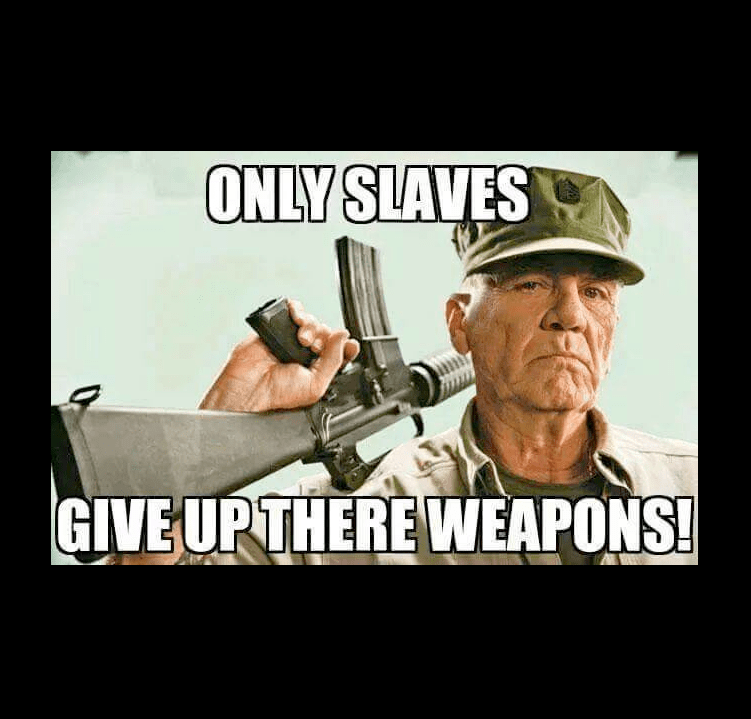 Guns Only slaves give up weapons