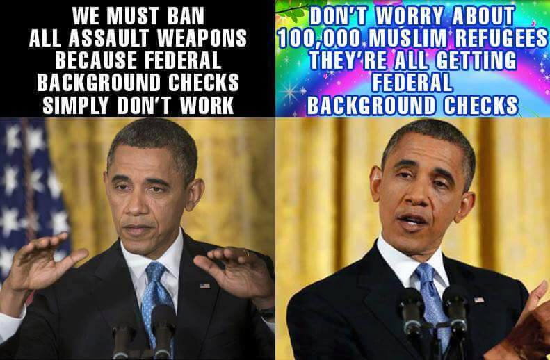 Obama on federal checks for weapons and refugees