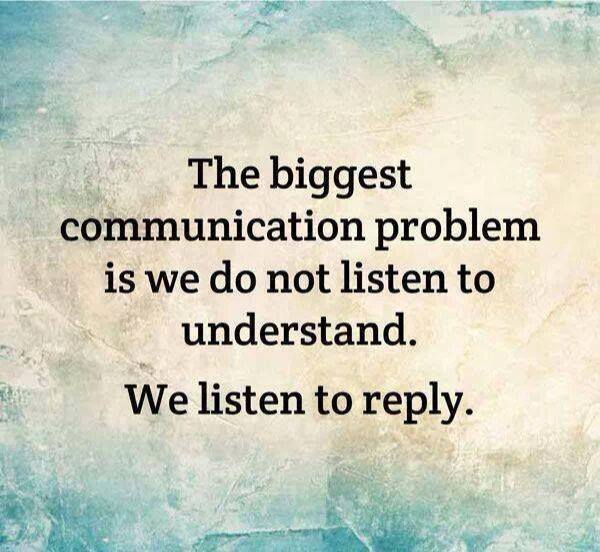 Silly Communication problem listening