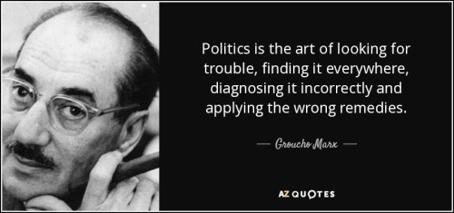 Silly Politics as defined by Groucho Marx