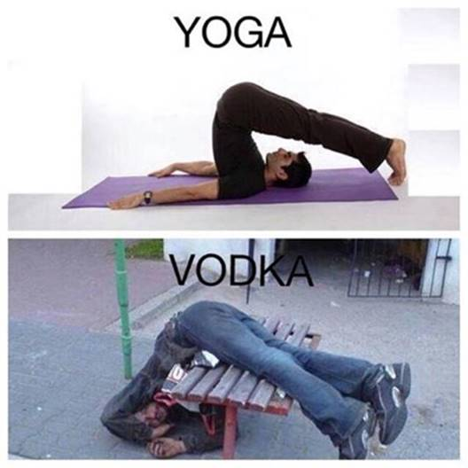 Silly Yoga and Vodka