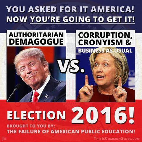 This election is a failure of public education