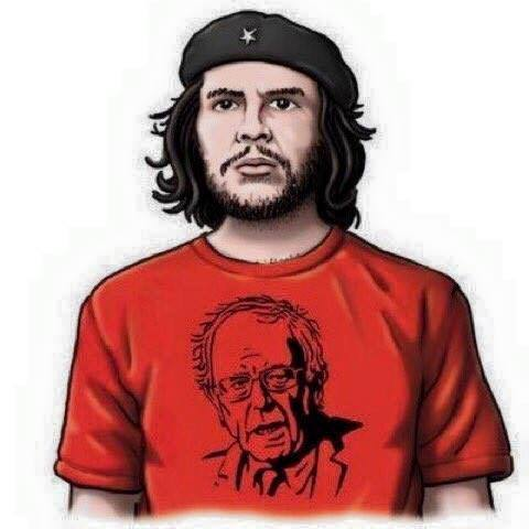 Che wearing a Bernie t-shirt