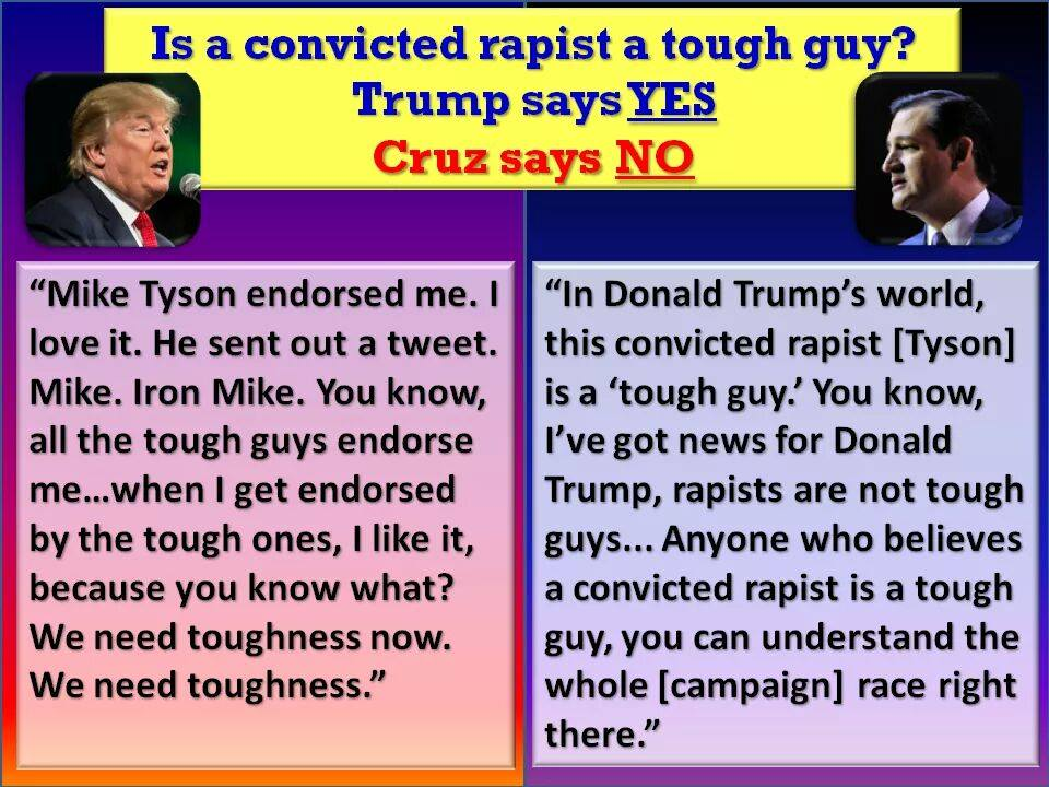 Cruz Trump Mike Tyson endorsement