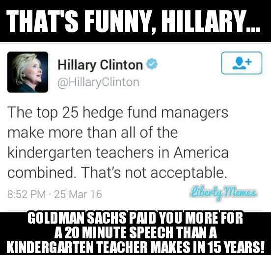 Hillary on Hedge Fund Managers