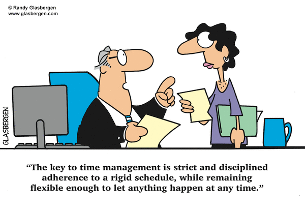 Silly time management flexible rigid