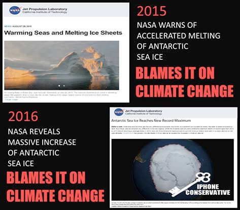 Stupid liberals Climate Change NASA explains everything