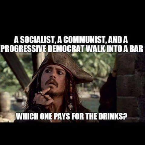 Stupid liberals paying at bar