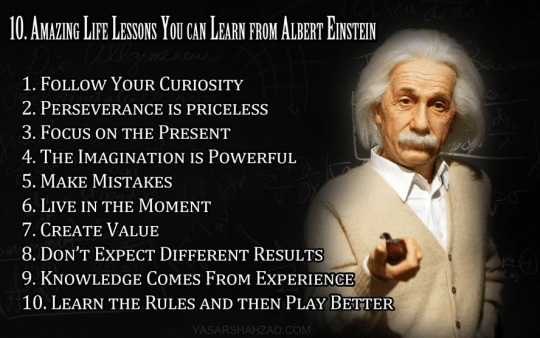 Wisdom learn from Einstein