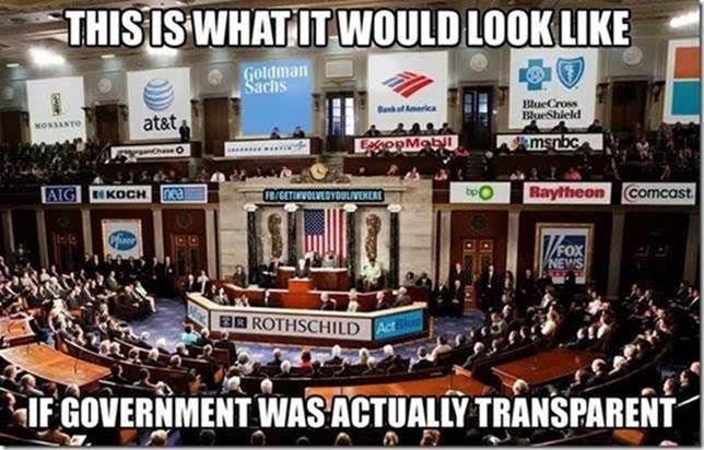 Government bought by the corporations