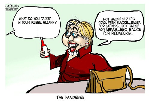 Hillary panders