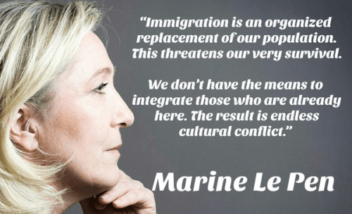 Immigration Marine Le Pen