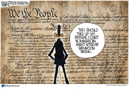 Obama pees on Constitution