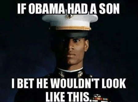 Obama son not Marine