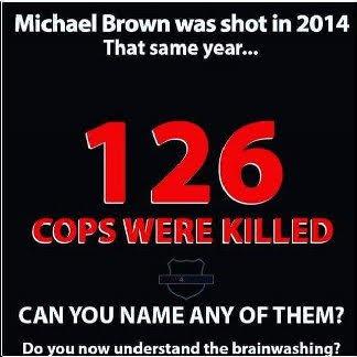 Police die unknown unlike Michael Brown