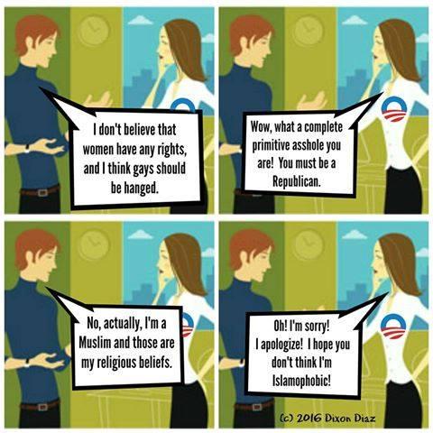 Stupid liberals forgive Muslims not Republicans