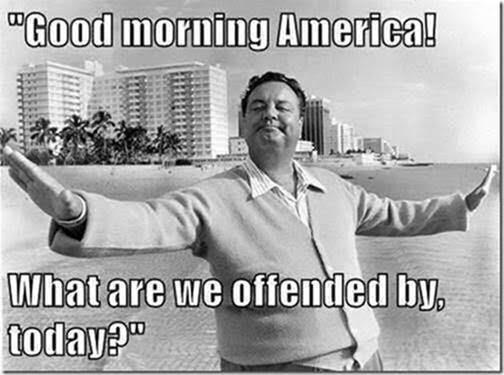 Stupid liberals taking offense