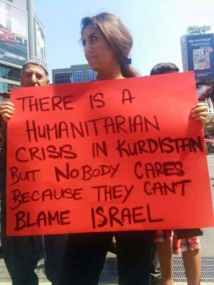Israel no blame in Kurdistan