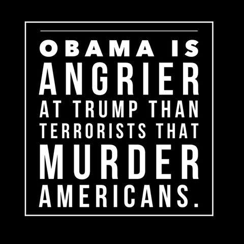 Obama angry at Trump not terrorists