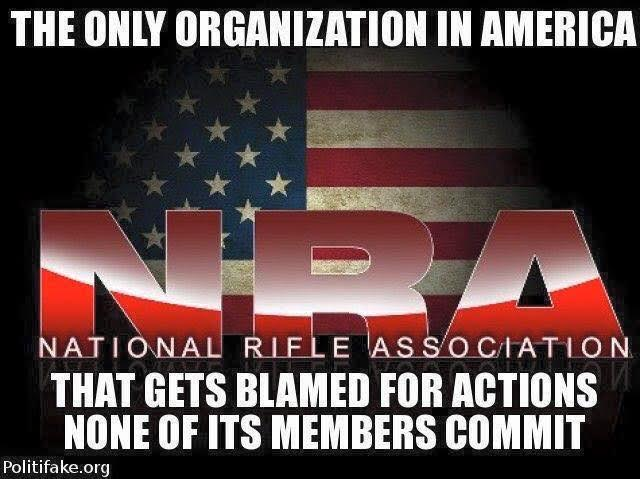 Guns NRA blamed members blameless