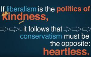 Liberal versus conservative kindness