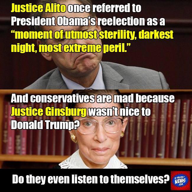 Scalia versus Ginsburg