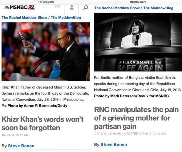 Media bias regarding grieving parents