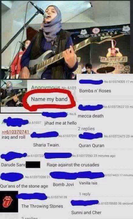 Muslims names for a band