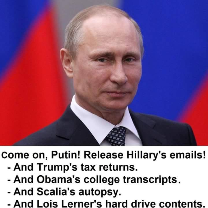 Silly Putin sits on information