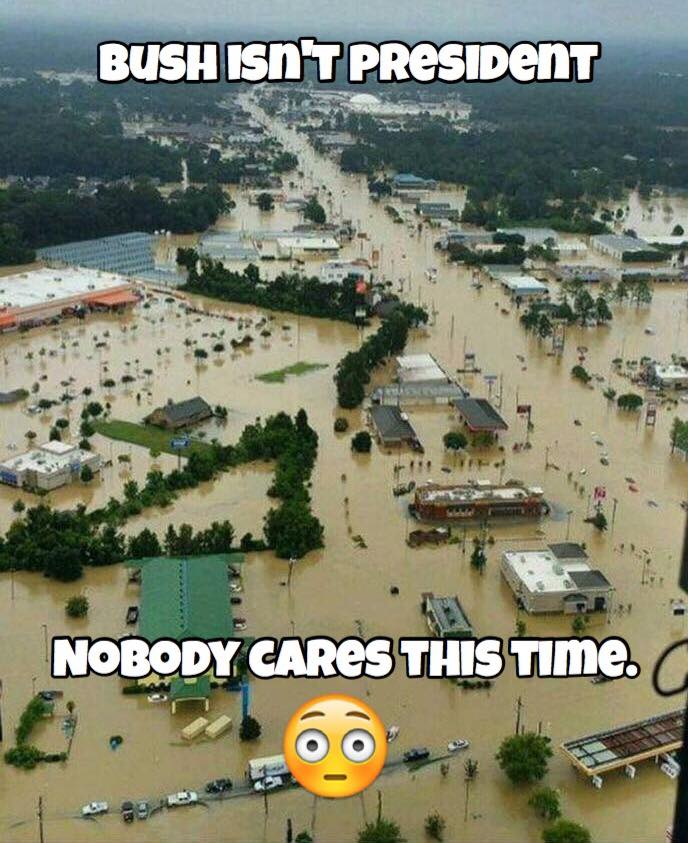 Stupid liberals Louisiana flood