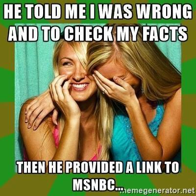 Media MSNBC not known for facts