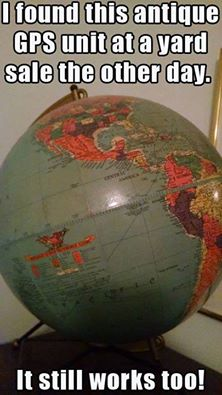 Silly Globe antique GPS