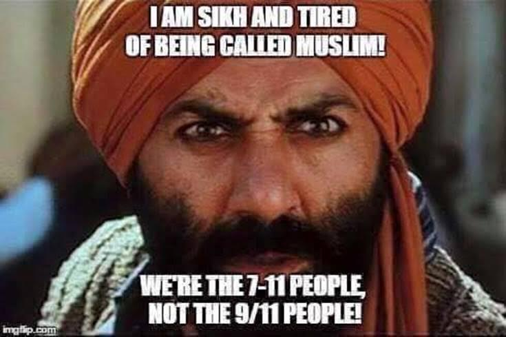 Silly Sikhs are NOT Muslims