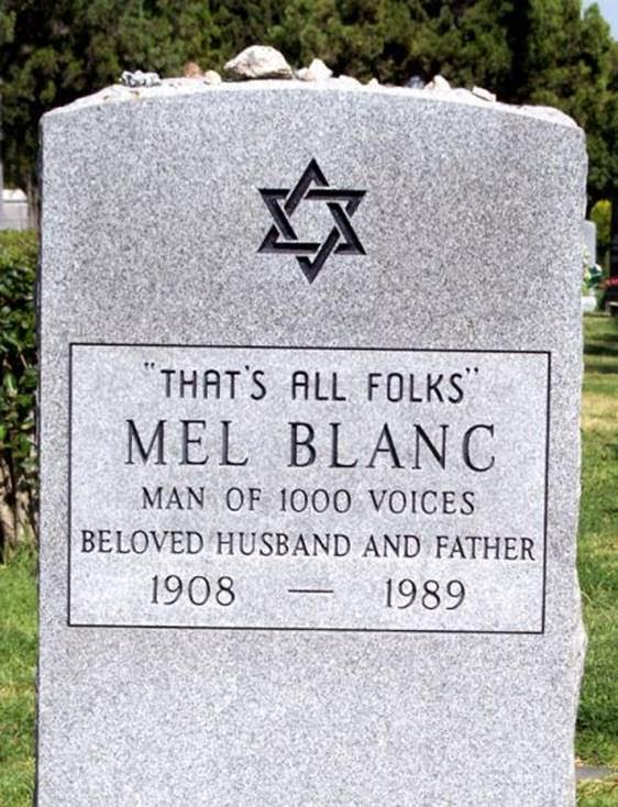 Silly stuff Mel Blanc's tombstone