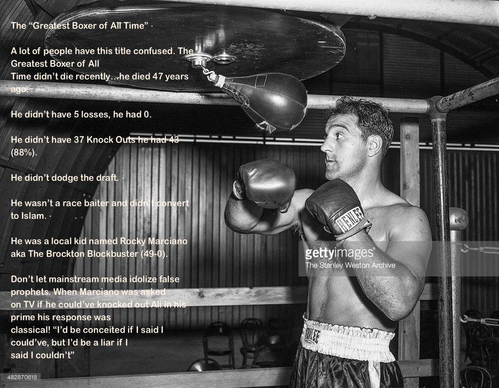 Wisdom Rocky Marciano greatest boxer of all