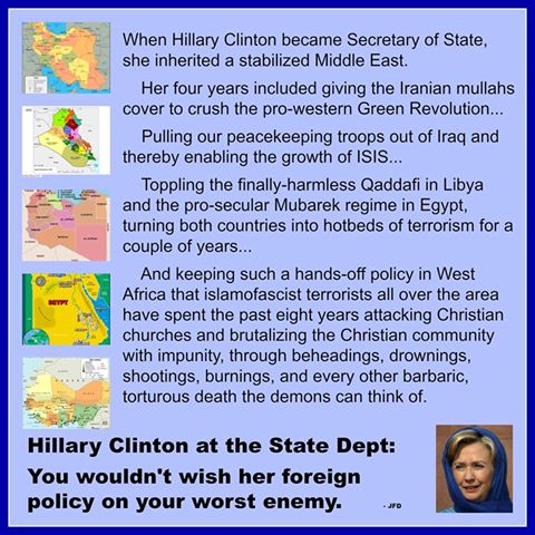 Hillary destroyed Middle EASt