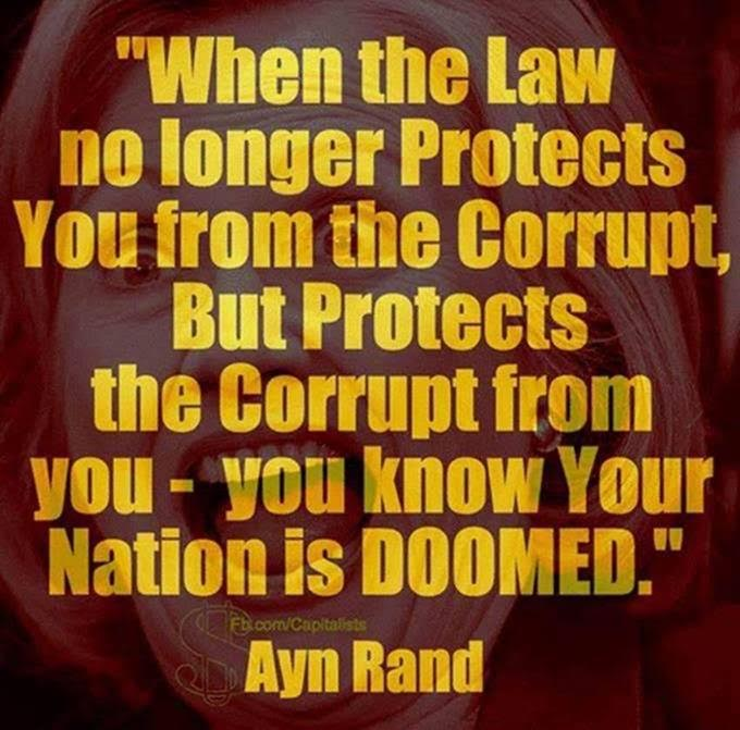 Hillary free Ayn Rand on law protecting corrupt from people