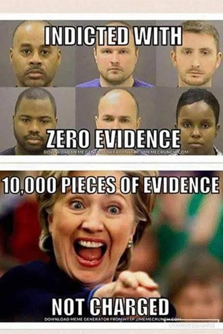 Hillary not indicted Baltimore cops indicted