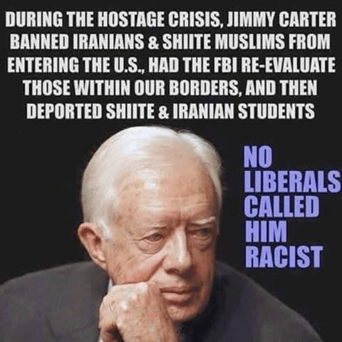 Muslims Islam Jimmy Carter barred