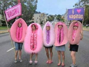 stupid-leftists-multicolored-vagina-protesters Progressive Woman Women