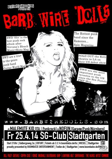 Barb Wire Dolls | GR/USA [Tour-Poster]