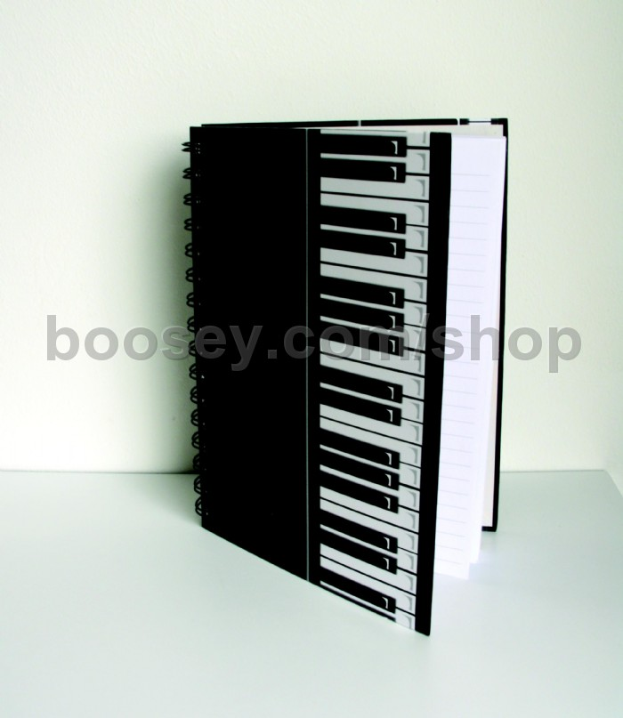 Notebook (A5 size) with Keyboard  Musical Staves Design