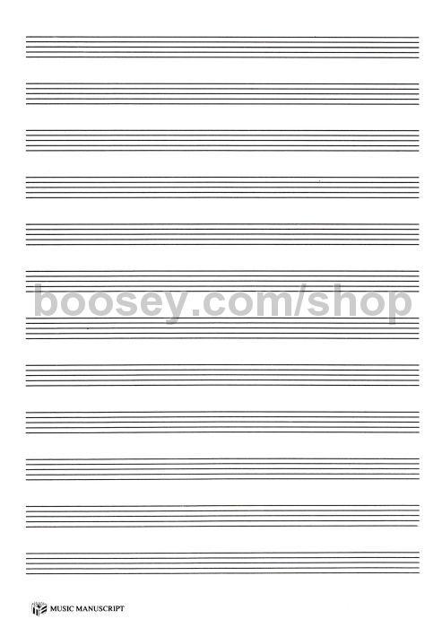 Manuscript Paper 12-Stave 64-page A4 Spiral - sample staff paper