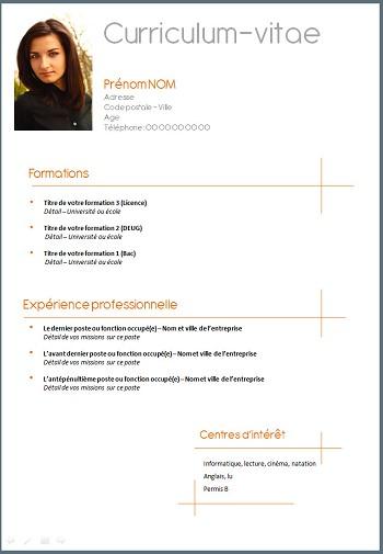 exemple cv blog
