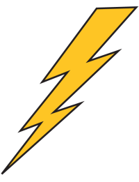 Gold Lightning Bolt Temporary Tattoo - Ships in 24 Hours!